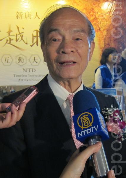 台灣傳統基金會董事長黃石城。(攝影:鍾元/大紀元)