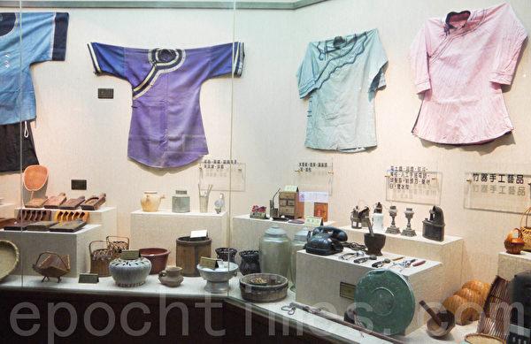 梅山鄉農村文化館早期農村服飾(攝影:顧惠玲/大紀元)
