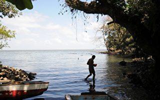 开凿尼加拉瓜运河通过尼加拉瓜湖时,将危及饮水供应和脆弱的生态系统。(ELMER MARTINEZ/AFP)