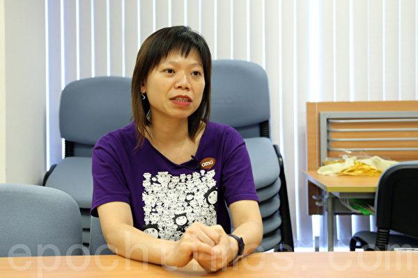 民间人权阵线召集人孔令瑜表示,七一大游行已经成为香港特有的景点,大陆人纷纷加入游行队伍。(摄影:潘在殊/大纪元)