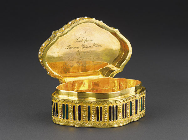 清宫旧藏 乾隆时期 《镀金镶珍珠宝石西洋鼻烟盒》。(顽石创意提供)
