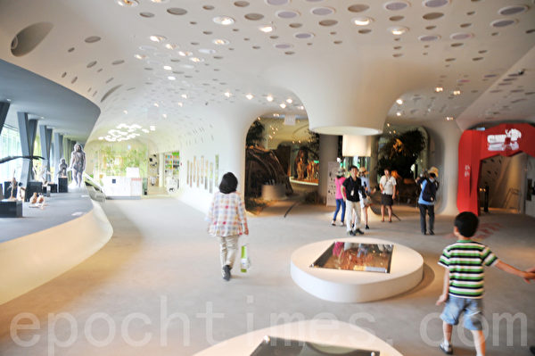 全谷里先史博物馆里面的结构设计像洞一样是圆圆的,没有菱角 (摄影: 明国/大纪元)