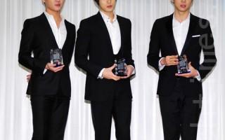 韩国男子组合JYJ。(摄影:李裕祯/大纪元)