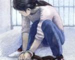 南京法輪功學員李群,以自己的親身經歷,揭露中共對法輪功學員實施的邪惡至極的摧殘與迫害。之後,她被迫離家出走,被中共當局通緝,近日再遭綁架。圖為中共酷刑示意圖:鎖地環(圖片來源:明慧網)