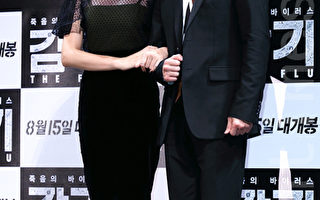 《感冒》男女主角张赫(右)与秀爱。(摄影:全宇/大纪元)