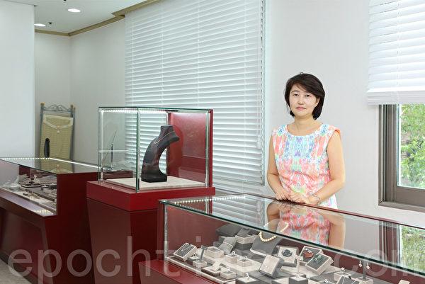 首尔江南钻石专卖店代表李妍姬。(摄影:全宇/大纪元)