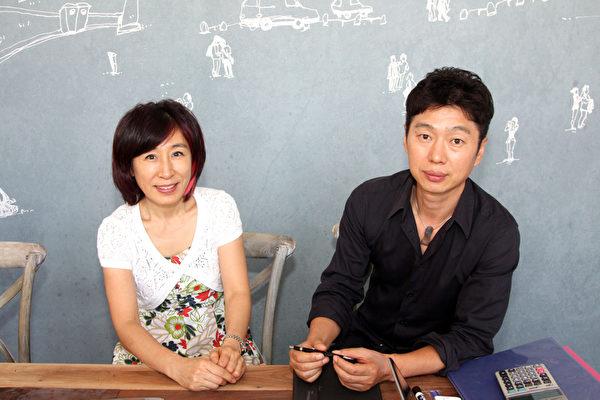 Kim院长(左)和Choi总经理。(摄影:李今春/大纪元)