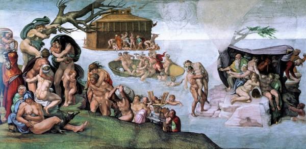 《创世纪》《诺亚的故事》中的大洪水。