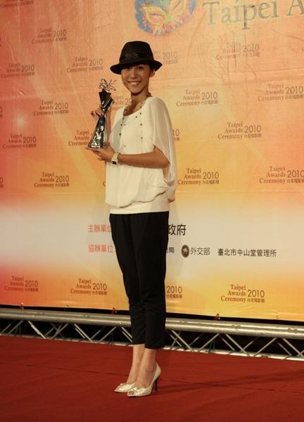 以《父后七日》获电影奖最佳女配角的张诗盈,今年将和蔡振南合颁最佳新演员奖。(图/财团法人台北市文化基金会提供)