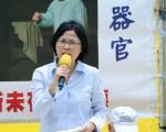 台湾法轮功律师团发言人朱婉琪斥责青关会骚扰法轮功,谴责共匪活摘器官。针对日益增加的义举,证明了全民反迫害的势头已起。(宋祥龙/大纪元)