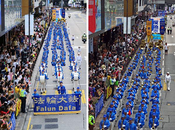 陣容龐大、氣勢磅礡的天國樂團引領遊行隊伍,受到民眾的熱烈歡迎。