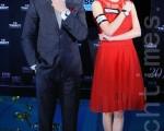 黃曉明及吳千語在尖沙咀為鐘錶品牌擔任嘉賓。(攝影:宋祥龍/大紀元)