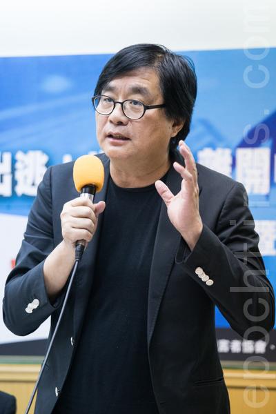 台灣關懷中國人權聯盟理事長楊憲宏。(攝影:陳柏州/大紀元)