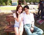 林采缇邀请李威担纲男主角,一起拍摄《隐形去看你》MV。(图/米乐士娱乐提供)