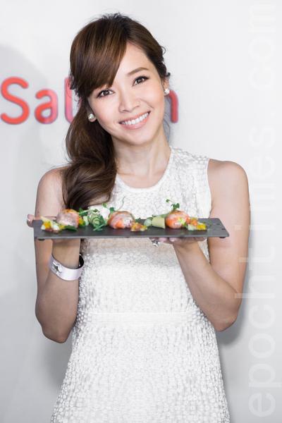 侯佩岑拿手菜是海鲜料理、意大利面、沙拉等健康轻食。(摄影:陈柏州/大纪元)