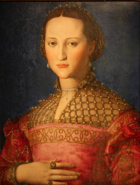 柯西莫一世的妻子,碧堤宫的女主人蕾奥诺拉肖像,矫饰主义画家 布隆吉诺所作。(章乐/大纪元)