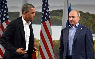 8月7日,美国白宫一高级官员宣布,美国总统奥巴马将出席在俄罗斯圣彼得堡举行的20国集团经济峰会,但取消与普京单独的会谈。图为奥巴马(左)与普京(右)。资料照片。(JEWEL SAMAD/AFP)