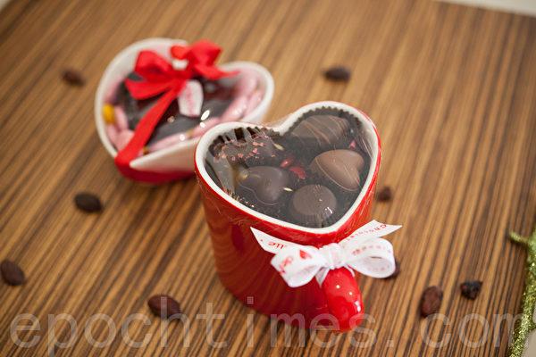 可可欧瓷器容器巧克力礼物。(庄孟翰/大纪元)