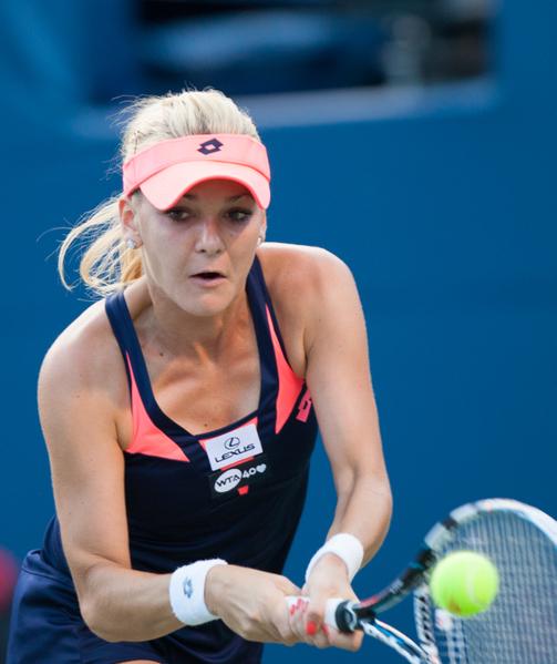 波兰的拉德万斯卡(Agnieszka Radwanska)在周六的半决赛中败于小威。(摄影:艾文/大纪元)
