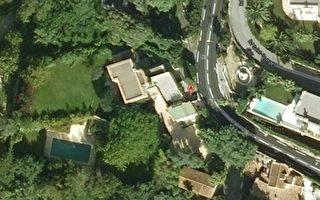 谷歌街景實拍中能夠搜索到這幢別墅的衛星鳥瞰圖。(網絡截圖)