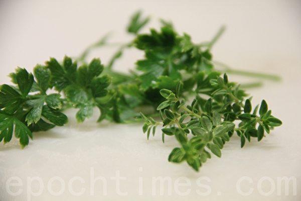義大利香菜Italian parsley / 檸檬百里香lemon thyme(攝影:ALEX/大紀元)