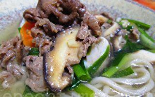 轻料理健康餐:寿喜烧肉片荞麦面