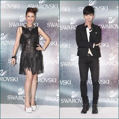 国际天后李玟(左)与歌手Bii毕书尽。(图/公关提供)