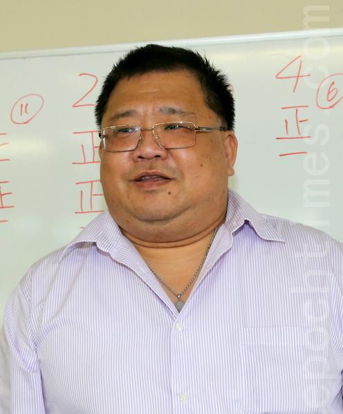 天府国际公司白秋华董事长在会中致辞。(摄影:林珊如/大纪元)