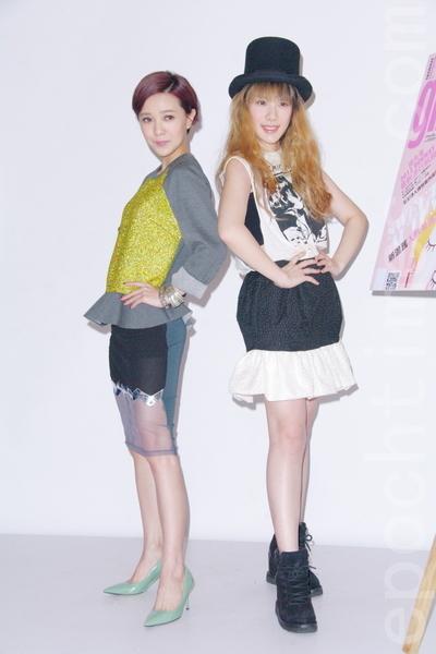 郭采洁(左)、王诗安。(摄影/黄宗茂) (摄影:黄宗茂/大纪元)