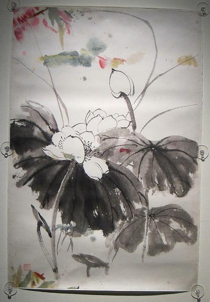 孫多慈-荷花(國立歷史博物館)(鍾元翻攝/大紀元)
