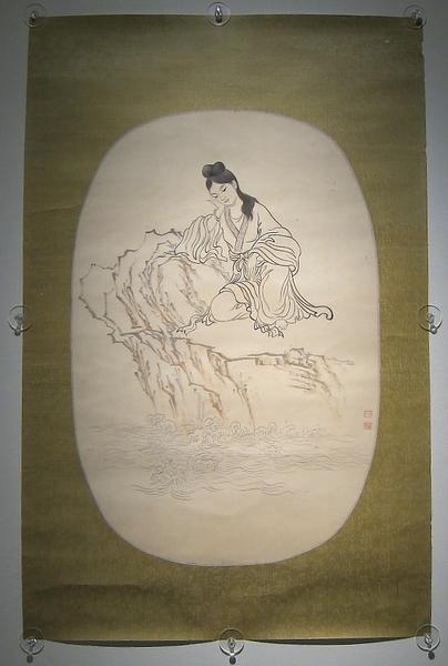 孫多慈-美人憑欄(國立歷史博物館)(鍾元翻攝/大紀元)