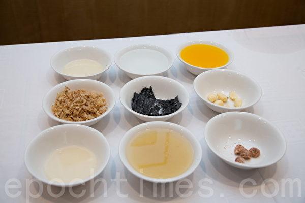 特制健康低脂沾酱的材料。(庄孟翰/大纪元)