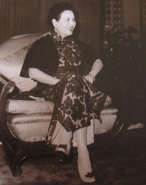 圆山大饭店创办人蒋夫人宋美龄女士。(摄影:钟元翻摄 / 大纪元)