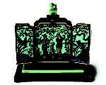 """英国顶级珠宝商Hancocks将在""""香港珠宝首饰展览会""""(Hong Kong Jewellery & Gem Fair)上展出的,美国珠宝商Marcus & Co 1925出品的中国风珐琅质报时时钟。(Hancocks提供)"""