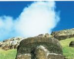 拉诺拉拉库的石像头部。(图:商周出版 提供)