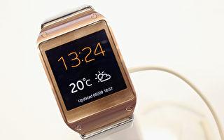 三星电子公司最新推出的智慧表Galaxy Gear(Gallup/Getty Images)