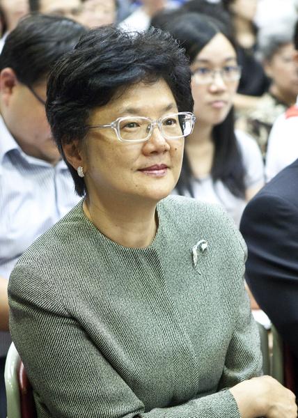 香港名校拔萃女書院校長劉靳麗娟。(余鋼/大紀元)