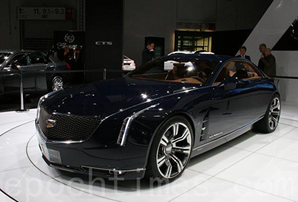 在IAA上卡迪拉克推出的豪華轎跑車Cadillac Elmiraj Concept (攝影:曹工/大紀元)