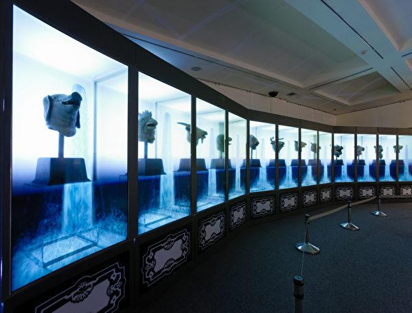 圜明园海晏堂十二兽首艺术科技展演声光剧场之二。(顽石创意提供)