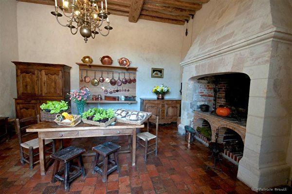 城堡裡的廚房。(Château et Jardins de Villandry提供)