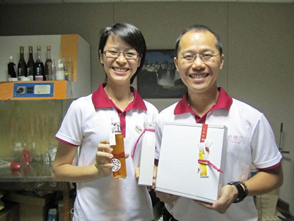 福酿坊蔡福良(右)及张毓萱(左)。(福酿坊提供)