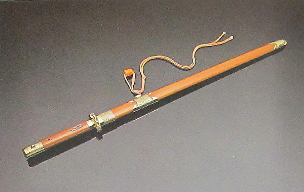 历代十大名剑系列-单锋龙虎剑(国立历史博物馆)。(钟元翻摄/大纪元)
