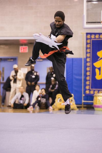 新唐人第四屆「全世界華人武術大賽」北美賽區初賽精彩瞬間。(愛德華/大紀元)