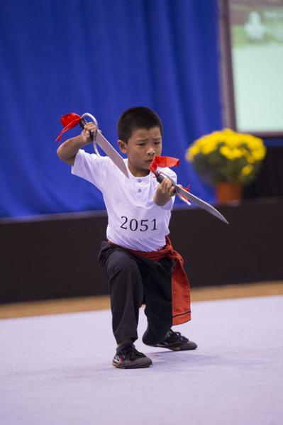 新唐人第四屆「全世界華人武術大賽」北美賽區初賽精彩瞬間。(戴兵/大紀元)