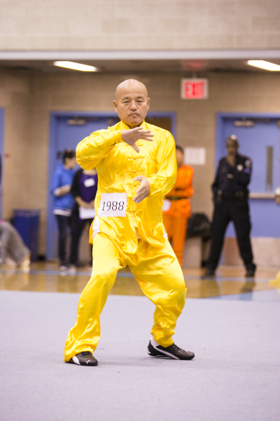 新唐人第四屆「全世界華人武術大賽」來自台灣的蘇錫龍獲得男子拳術組的銀獎。(愛德華/大纪元)