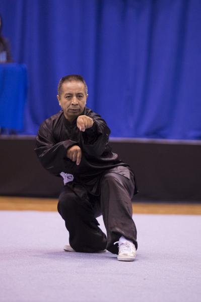 新唐人第四屆「全世界華人武術大賽」來自美國的王百利獲得男子拳術組的金獎。(戴兵/大纪元)
