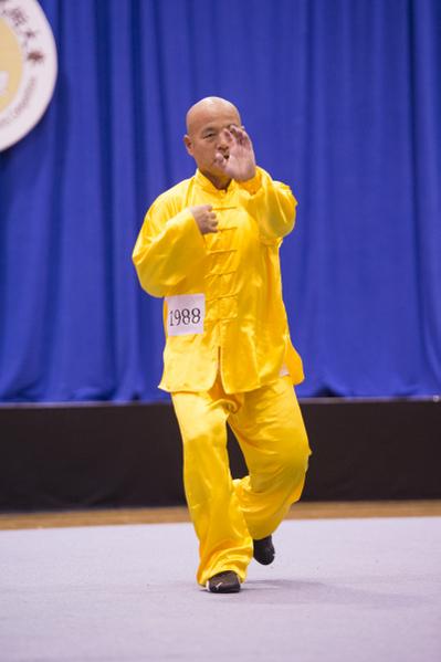 新唐人第四屆「全世界華人武術大賽」來自台灣的蘇錫龍獲得男子拳術組的銀獎。(戴兵/大纪元)