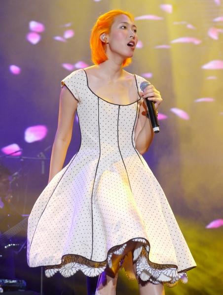 Joanna王若琳前晚(21日)在上海舉行「Joanna的幻像館」演唱會。(索尼音樂提供)
