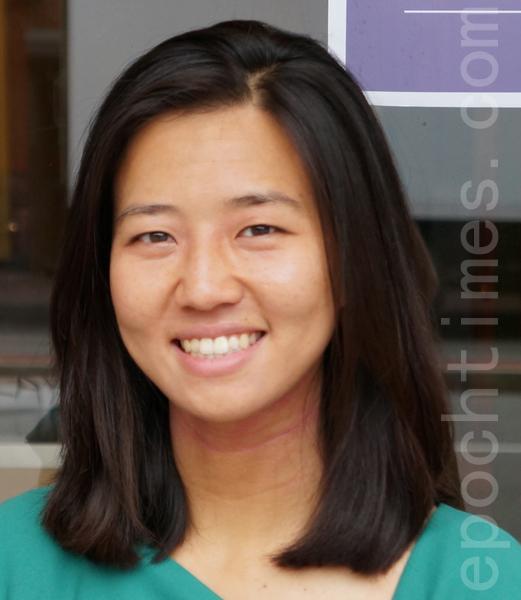 波士顿市议员候选人吴弭(Michelle Wu)初选得第4名﹐有望成首位华裔市议员。(摄影﹕赵洪雨/大纪元)