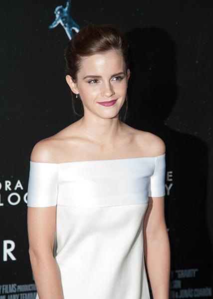 艾玛•华森在《地心引力》纽约首映礼上。(Dave Kotinsky/Getty Images)